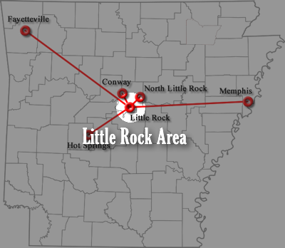Little Rock Area Map