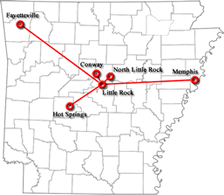 Arkansas Map Logo